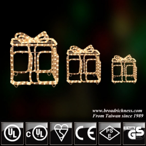 3D Incandescent Rope Light Gift-Boxes