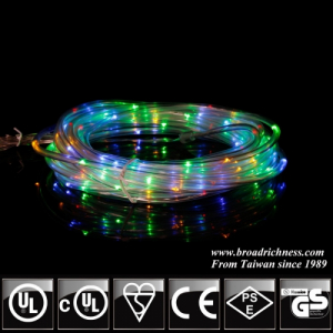Battery Operated RYGB LED Rope Light