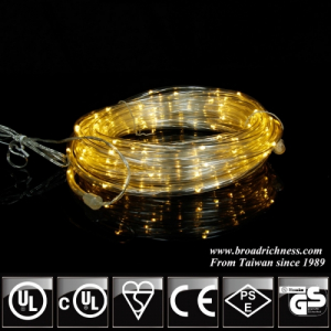Battery Operated Warm White LED Rope Light