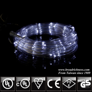 Battery Operated White LED Rope Light