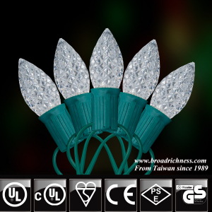 35CT/50CT C7 Faceted LED Christmas String Lights