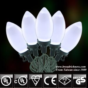 25CT/50CT C9 Ceramic Paint LED Christmas String Light