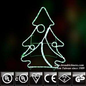 2D  LED Green Christmas Tree Motif Rope Lights