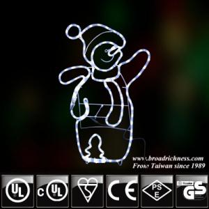 2D LED Rope Light Snowman