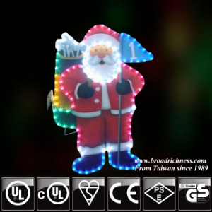 2D Outdoor Christmas Decoration Santa