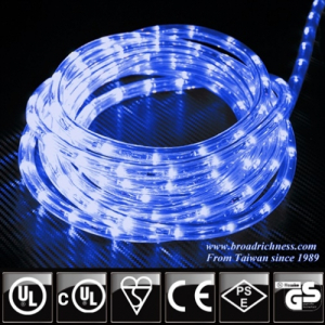 Blue LED Rope Light, 2-Wire, 1/2''(3/8''), 120 Volt