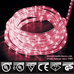 Pink LED Rope Light, 2-Wire, 1/2''(3/8''), 120 Volt