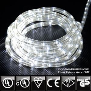 White LED Rope Light, 2-Wire, 1/2''(3/8''), 120 Volt