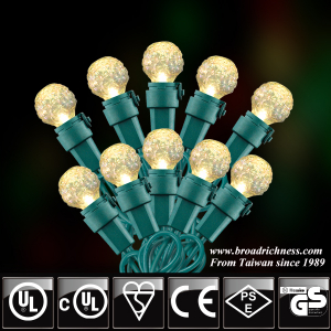 35CT/50CT/70CT G15 Glass Mini Globe Diamond Cut LED Christmas String Lights