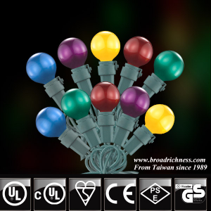 35CT/50CT G20 Glass Pearl Paint LED Christmas String Lights