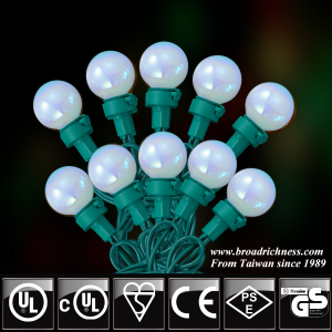 25CT/35CT/0CT G25 Glass Pearl Paint LED Christmas String Lights