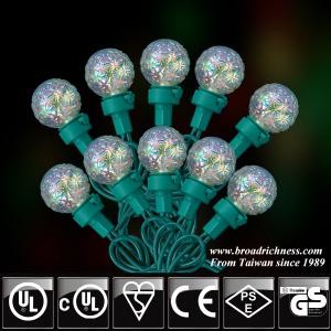 25CT/35CT/50CT G25 Glass Iridescent Crystal LED Christmas String Lights