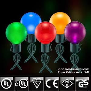25CT G40 Glass Pearl Paint LED Christmas String Lights
