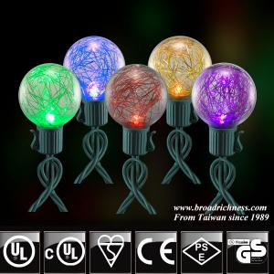 25CT G40 Glass Tinsel LED Christmas String Lights