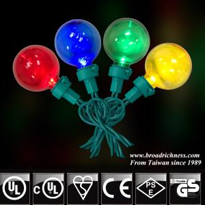 50CT G40 Plastic LED Christmas Lights