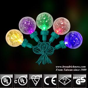 50CT G40 Plastic Tinsel LED Christmas Lights