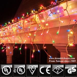 100CT Christmas Icicle Lights - Incandescent  Mini Bulbs