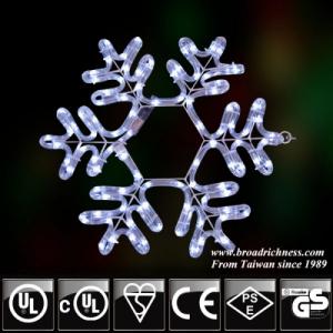 2D LED Rope Light Snowflake