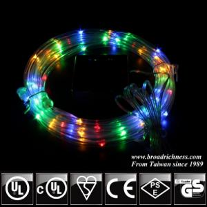 RYGB Solar Powered  LED Rope Light