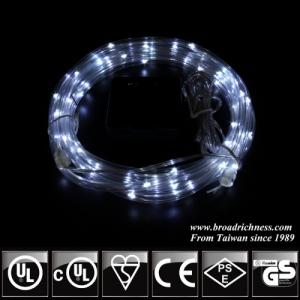 White Solar Powered LED Rope Light