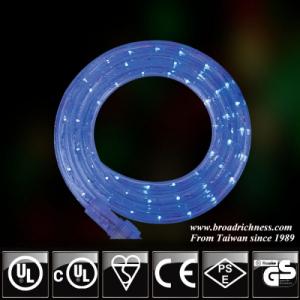 18FT Blue LED Rope Light, 2-Wire, 1/2''(3/8''), 120 Volt