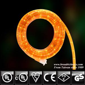 18FT Orange Incandescent Rope Light, 2-Wire, 1/2''(3/8''), 120 Volt, UL Approved