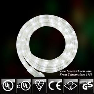18FT White LED Rope Light, 2-wire, 1/2''(3/8''), 120 Volt